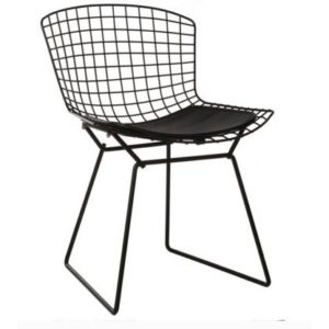 Bertoia side chair- black seat