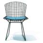 Bertoia side chair- Black - blue seat